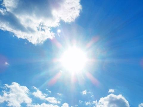 カンカン照りで日焼け