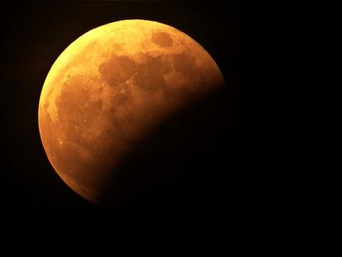月食の様子