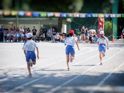運動会の短距離走